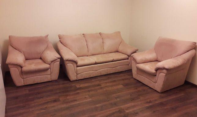 WAJNERT Zestaw wypoczynkowy Sofa , 2 fotele