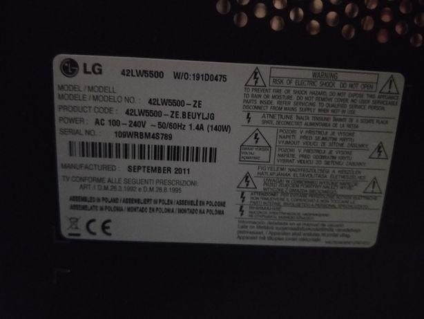 TV LG 42 LW5500 para peças