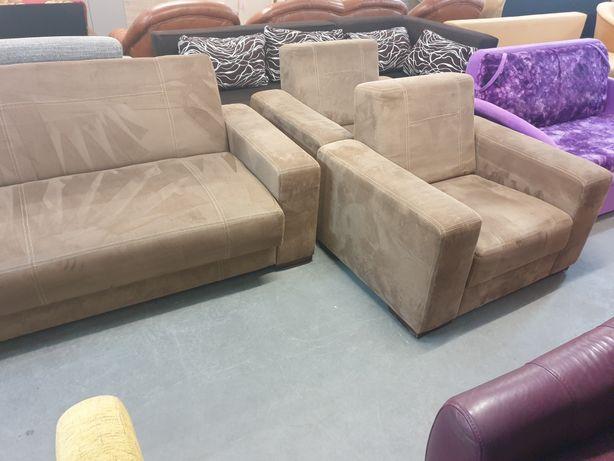 Wypoczynek Wersalka + 2 Fotele + Pufa