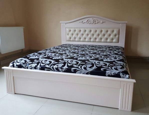 Ліжко двоспальне дерев'яне кровать дерево спальня