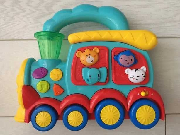 Interaktywna lokomotywa, odgłosy zwierząt