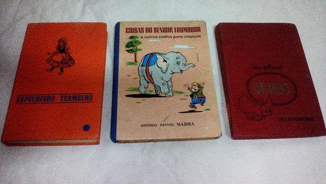 livros majora, capuchinho vermelho, dumbo