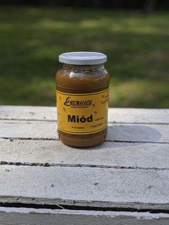 Sprzedam miód pszczeli gryczany 0.9L 1.20kg Pasieka Łazowscy