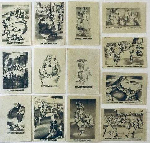 Coleção Completa Desenhos/Autocolantes autoria Álvaro Cunhal