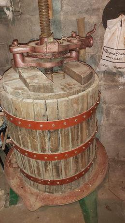 Prensa lagar de vinho