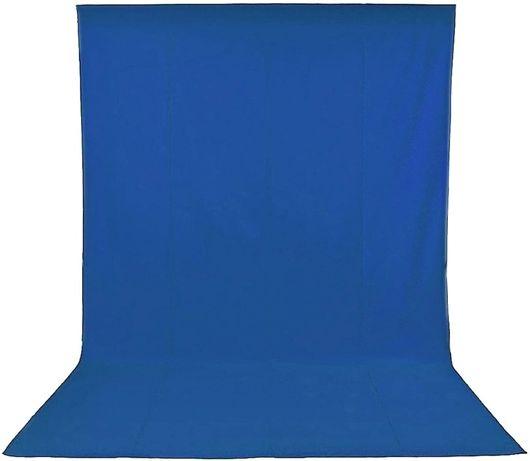 Fundo azul 3x3.6m algodão para estúdio fotografia e vídeo