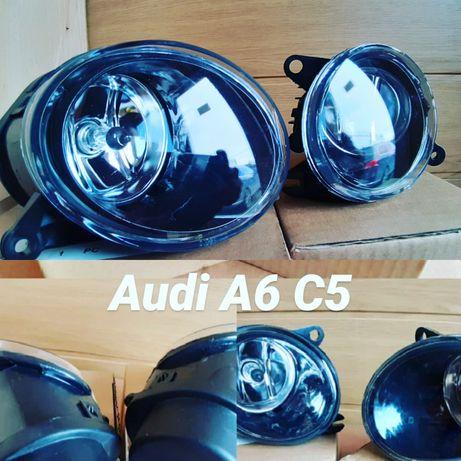 Противотуманки в бампер фара противотуманная Audi A6 C5 Ауді