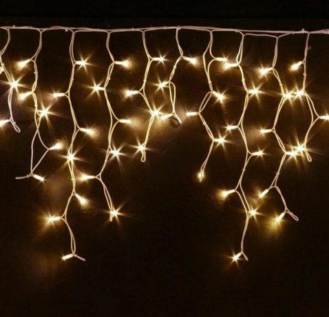 Уличная LED гирлянди Бахрома  10 мет.200 Ламп тепло белый Гирлянды