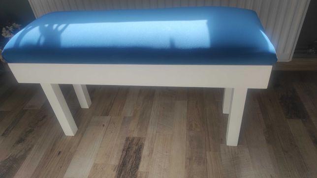 Siedzisko, ławka biała drewniana , poduszki gratis