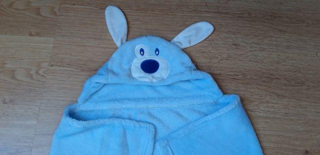 Koc kocyk otulacz ręcznik z kapturkiem
