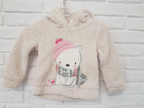 Ciepła bluza sweterek 3-4 lata 98-104