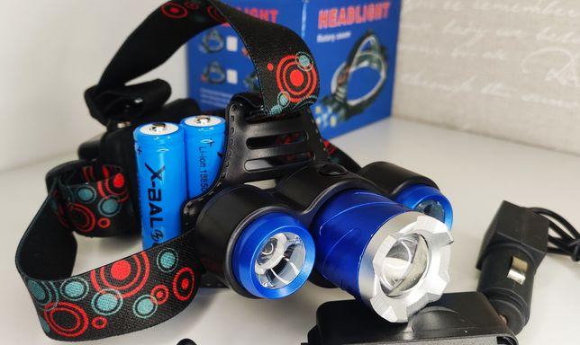 Налобныйфонарьаккумуляторный тактический фонарик для охоты рыбалки
