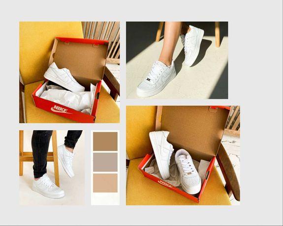 Хит Кроссовки Найк чорні білі  Nike Air Force 1 Топ Продажу!!!