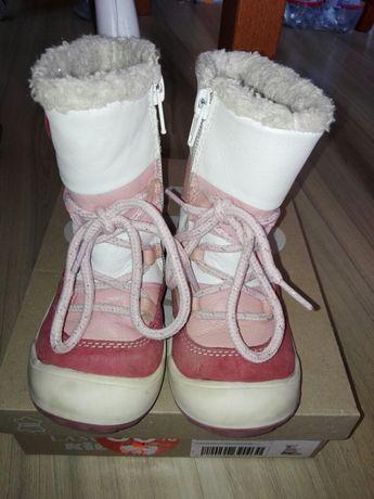 Buty na zimę rozmiar 22 Lasocki, skóra, ocieplanie długie. Kozaki.