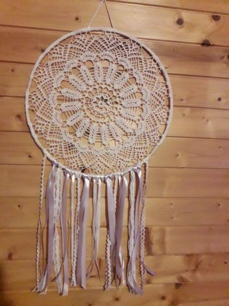 Nowy Łapacz snów - biały koronkowy