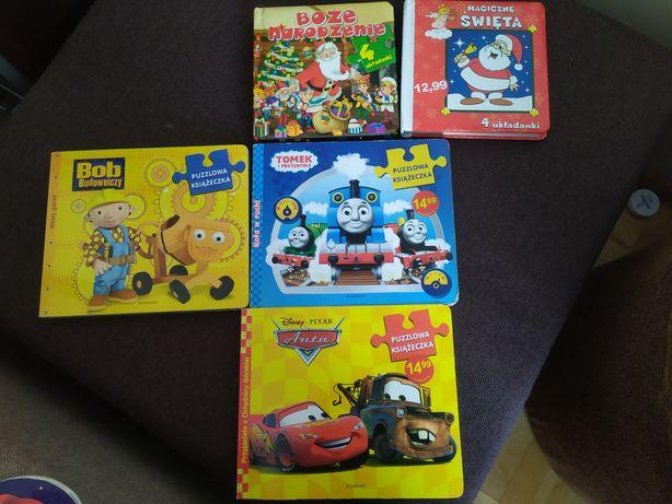 Puzzlowe książeczki Auta, Tomek i przyjaciele' Bob budowniczy