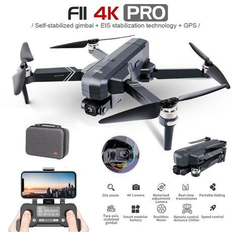 SJRS F11 4K pro, полный комплект + доп. батарея. квадрокоптер, дрон