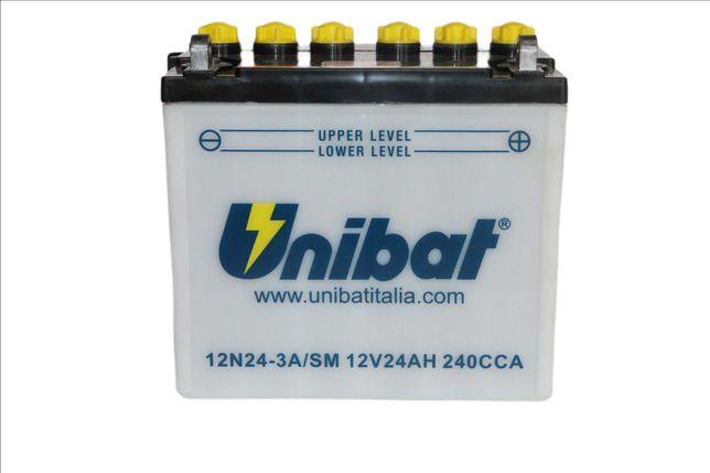 Akumulator Unibat 12N24-3A/SM 12V 24AH 218A