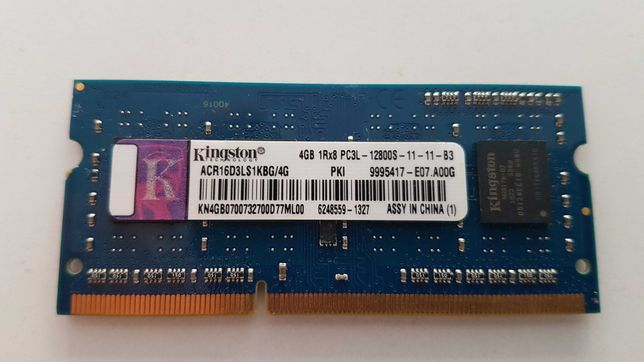 Memória Ram DDR3 Kingston 4gb PC3L-12800s