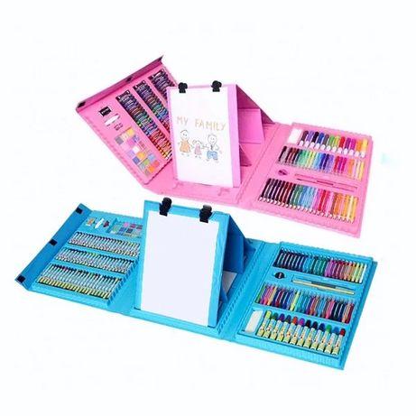 Детский художественный набор для рисования 208 предметов в  кейсе