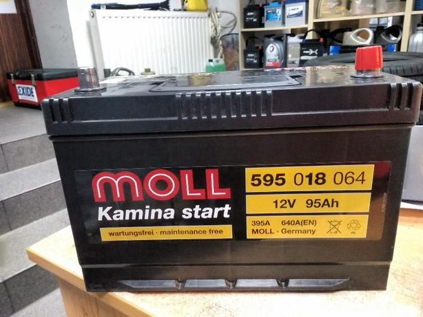 Akumulator Moll Kamina Start 12V 95Ah 640A G7 P+ Niemiecki Kraków