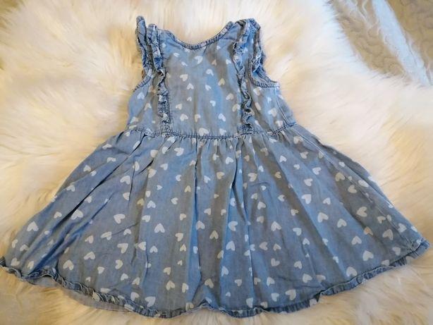 Sukienka dżinsowa r. 80
