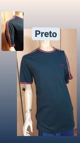 T-shirt preta Fred Perry
