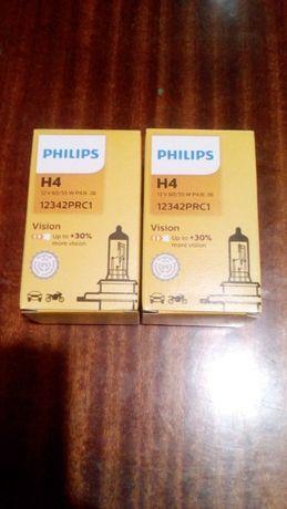 Автолампа H4 +30% Philips.Галогенная автолампа H4 (+30%).