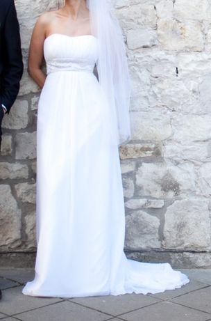 Suknia ślubna w stylu empire r. 36