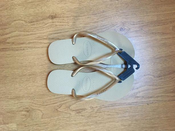 Sandálias Havaianas Slim Areia/Dourado Claro 37/38