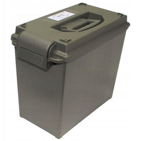 Pudełko na amunicją US, plastikowe oliwkowe