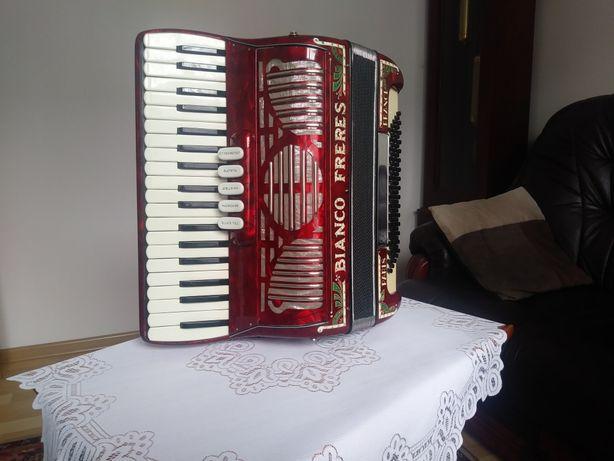 Akordeon BIANCO FRERES 80bas klawiatura jak 96