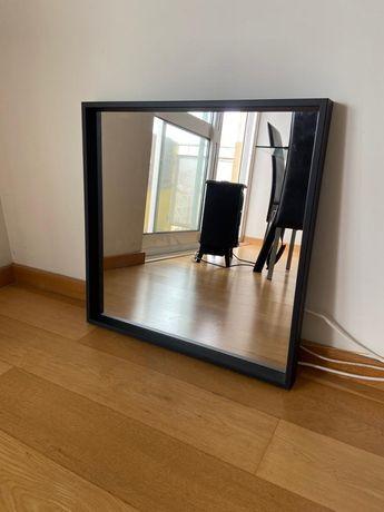 Vendo espelho preto Ikea NISSEDAL 65x65