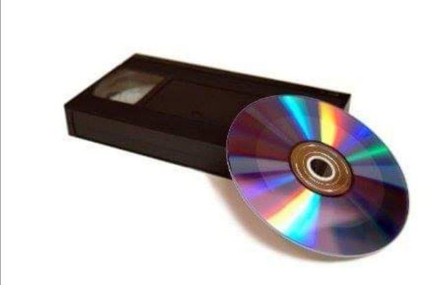 Zgrywanie kasety VHS na płytę DVD.