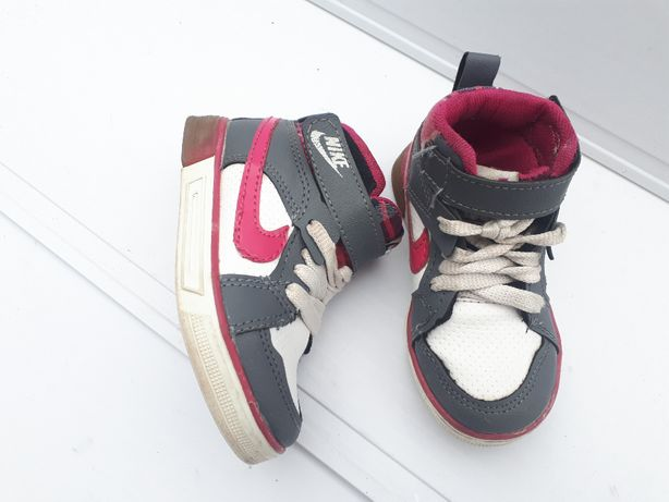 (25-15,5) Nike высокие кроссовки хайтопы ботинки скейтера для девочки