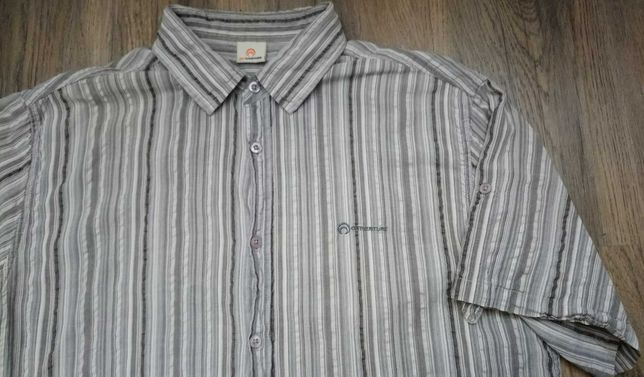 Outeventure Мужская рубашка с коротким рукавом, летняя