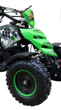 Moto4 motor 2 tempos 49cc mini quad 3 cores disponíveis portes incluíd