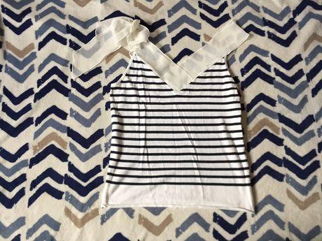 Elegancka bluzka Monari M 10 38 sto marynarski moda ramiączka pracy