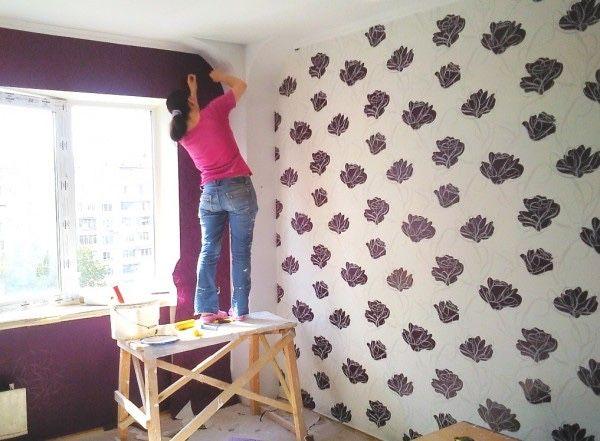 Шпаклевка, покраска стен и потолков. Поклейка обоев
