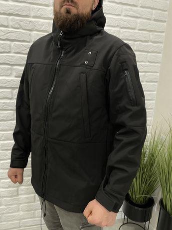 Розпродажа! Куртка Softshell черная для Полиции 52-62рр