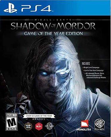 Shadow Of Mordor na ps4