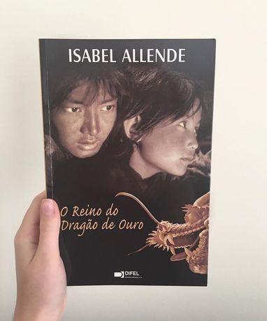 """Livro """"O reino do dragão de ouro"""" de Isabel Allende"""
