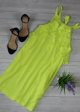 Яркое шифоновое платье