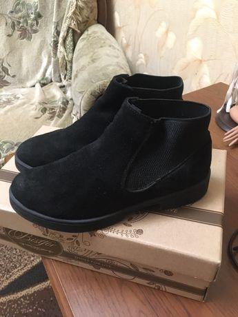 Полусапожки обувь ботинки натуральный замш фирма ЧЕЛСИ