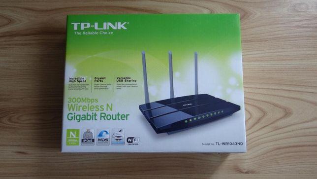 Router Gigabit Wireless N, TP-Link 300 Mbps model TL-WR1043ND