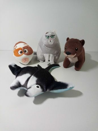 Мягкие игрушки: морская свинка, скат и кошка из McDonald's(активное)