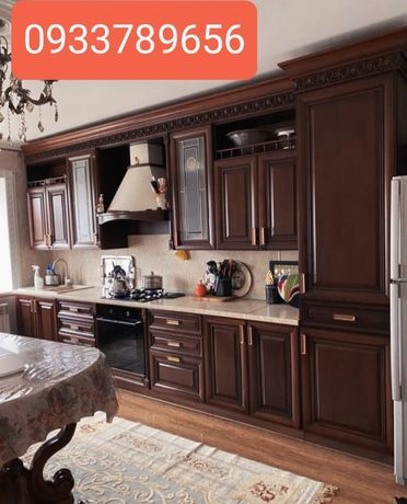 Кухонні меблі гарнітур массив ясеня бу