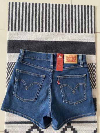 Spodenki jeansowe marki LEVI'S, nowe z oryginalnymi metkami papierowym