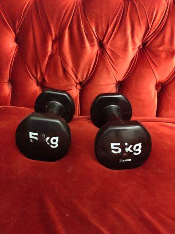 Pesos/halteres de 5kg Decathlon