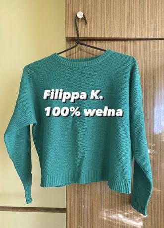 Zielony wełniany sweter Filippa K 100% wełna